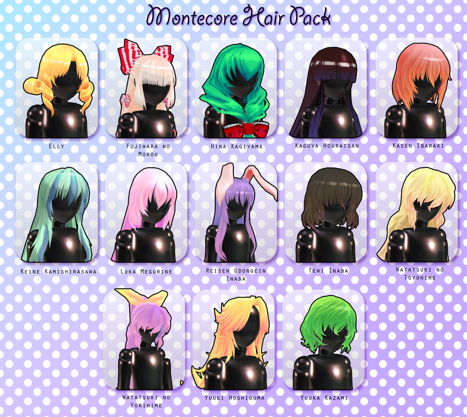 Montecore Hair Pack Dl By Xoriu On Deviantart