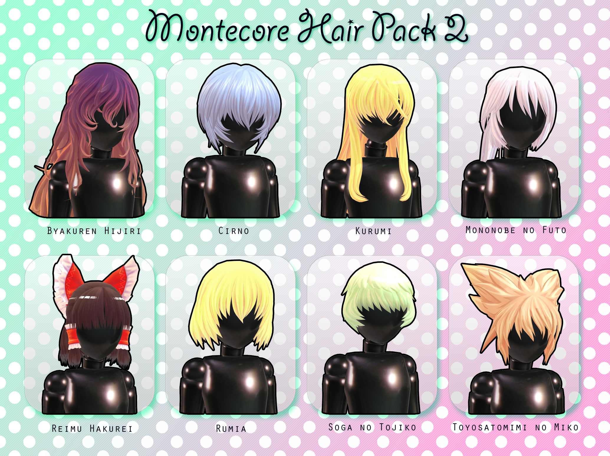 Montecore Hair Pack 2 DL by Xoriu