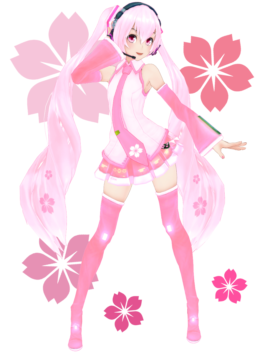 KasokuSato Sakura Miku DL by Xoriu