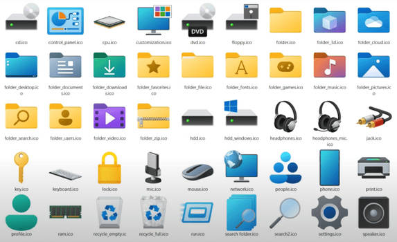 7tsp Windows 11 Icon Pack for w10 19h1 - 21h2