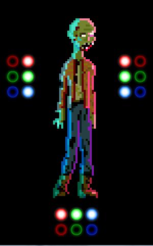 Pixel Zombie w/ Dynamic Lighting