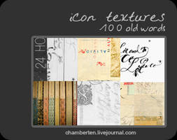 Old words textures by chambertin