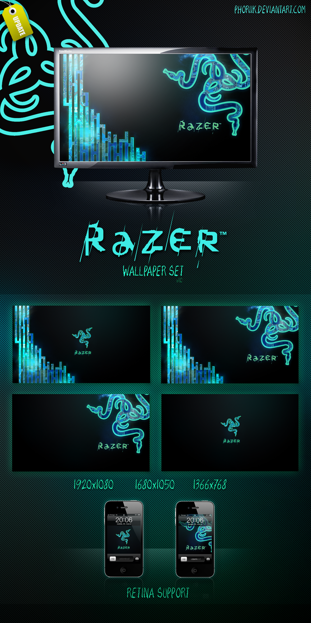 razer wallpaperset hd by luksykora on deviantart