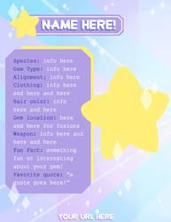 Steven Universe: Guide to Gemsonas (Bio Template) by Beedalee-Art