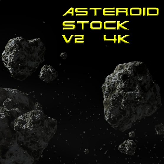 Asteroid field 2  (4k) by Bull53Y3