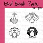4 Cartoon Bird Brushes