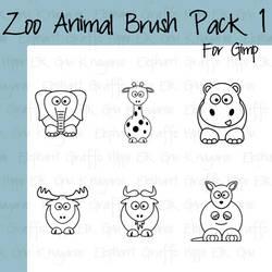 Cartoon Zoo Animals Pt1