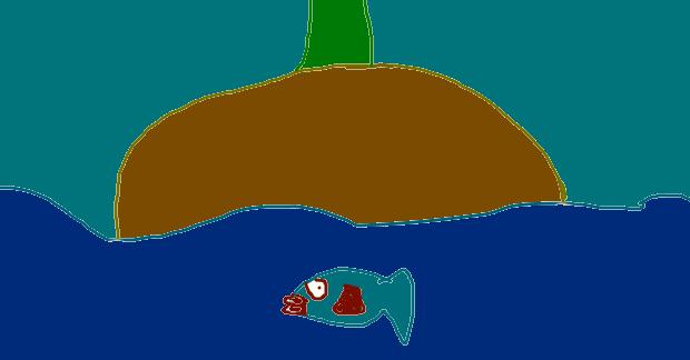 fish is swimming by princesshustun
