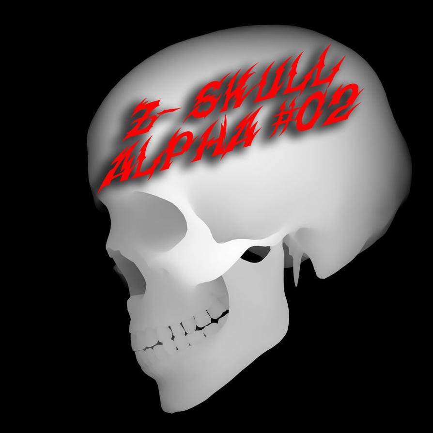 Zbrush Alpha Skull Side 02 by shtl
