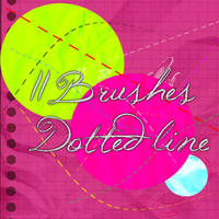 11 Brushes Dotted line by Itzeditions