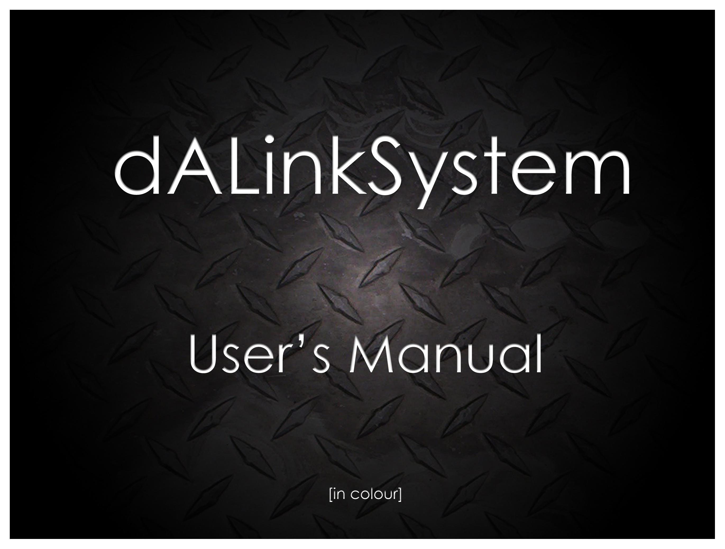 dALinkSystem User's Manual by dALinkSystem