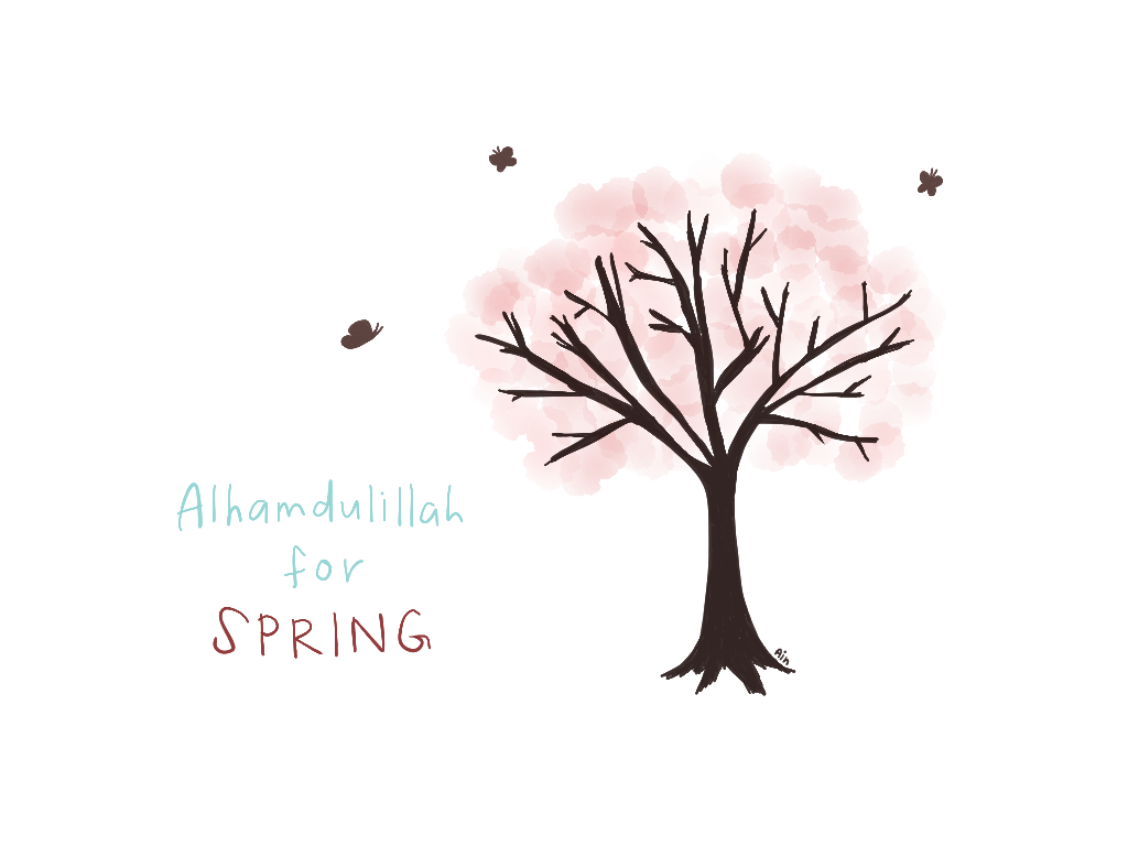 alhamdulillah for spring by ainsdrawings on DeviantArt