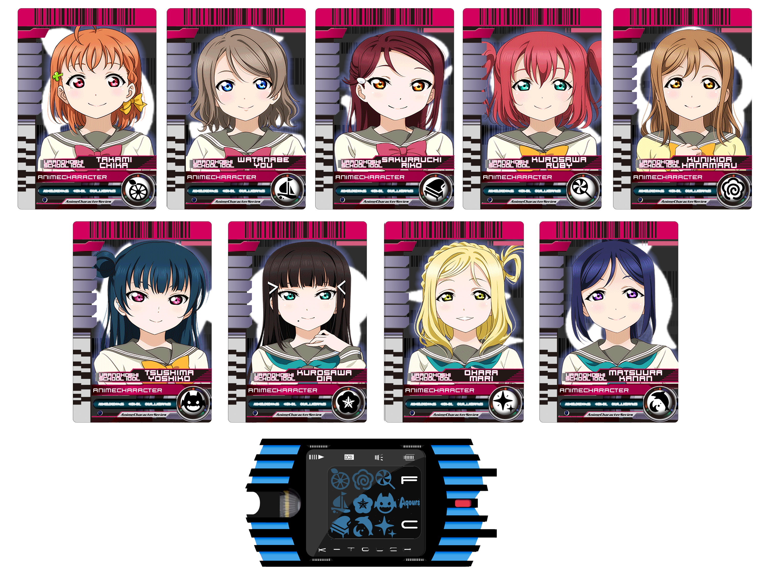 Decade Card and K-Touch (Aqours) by Decade1945 on DeviantArt