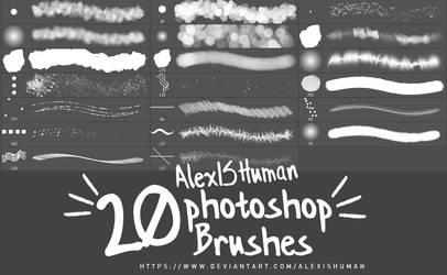 20 Photoshop Brushes by AlexISHuman