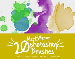 Watercolor brushes by AlexISHuman