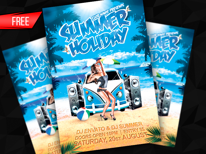 [FREE] Summer Holiday Flyer Template (PSD)