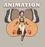 Flying Fairy 4 - Animated