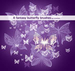 8 fantasy butterfly brushes