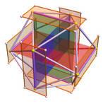golden borromean icosacube by dansmath