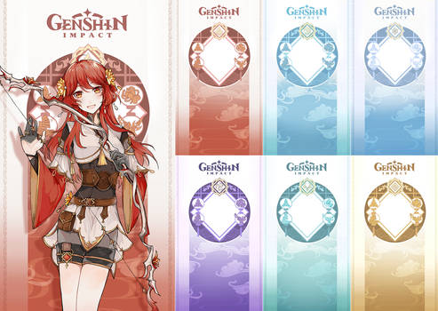 Genshin Impact Template Character cards