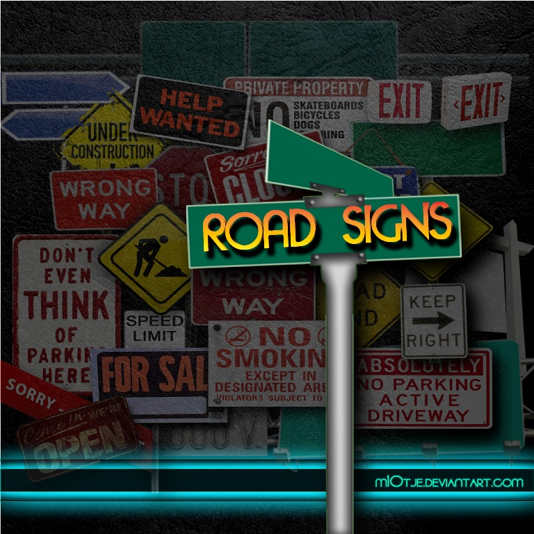 Road and traffic signs by M10tje