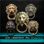 Lion ornament doorknobs png