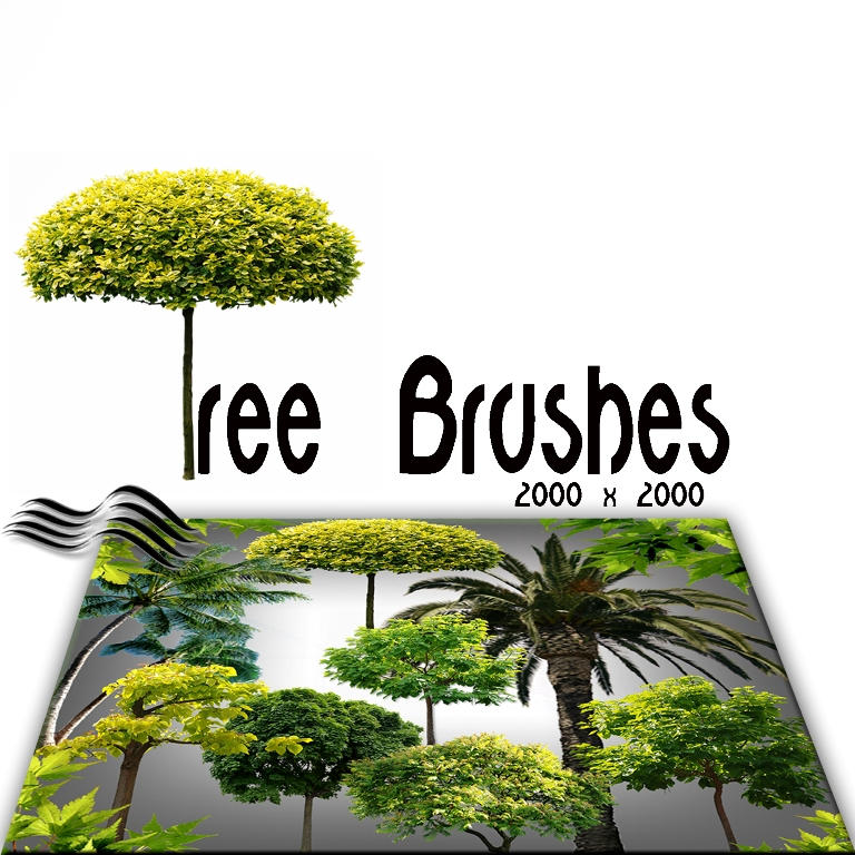 Tree Brushes by M10tje