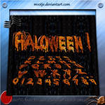 3D Haloween ABC + 123 png