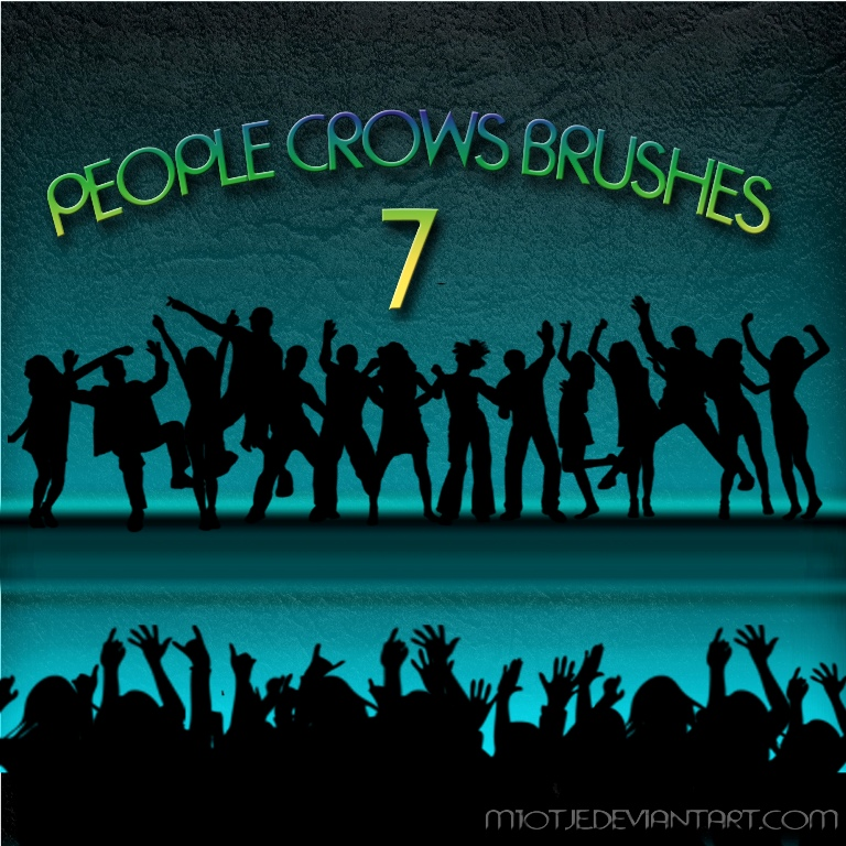 HQ people/crowd brushes
