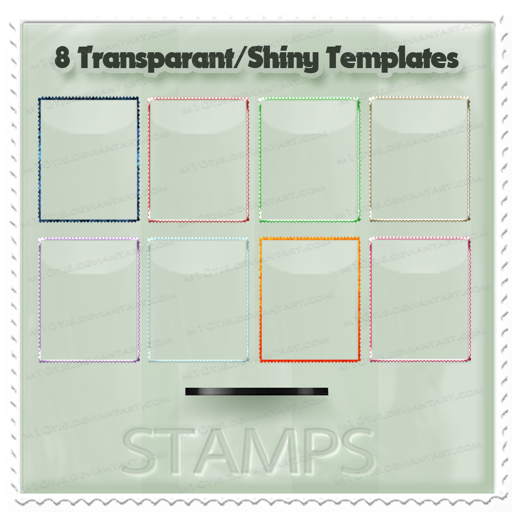 8 Transapant/Shiny Stamp Templates by M10tje