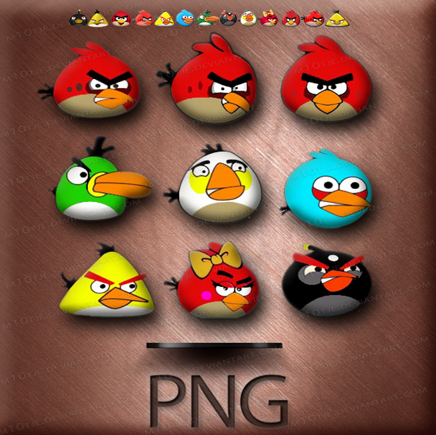 Angry Bird Png by M10tje