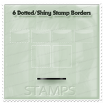 6 Dotted Shiny Stamp Borders