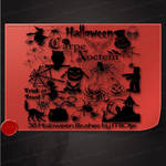 38 Haloween brushes by M10tje