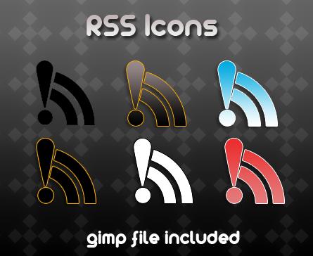 rss icons by ~billgoldbergmania