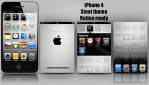 iPhone 4 Steel theme