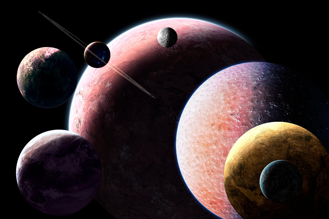 Some Planets by bloknayrb