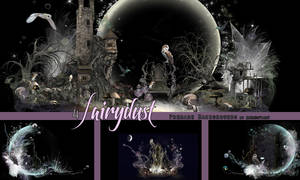 4 Fairydust Pre Made Backgrounds by VaLeNtInE-DeViAnT