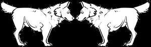 Free chibi wolf lineart