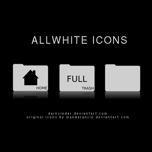 ALLWHITE Icons by darkvinder