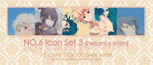 NO.6 icon set 03 by EdotenseiHime