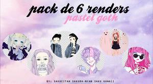 Pack de 6 Renders: Pastel Goth