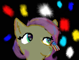 4th of july with fluttershy by FluttershyAdorable