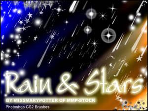 FREE BRUSHES, Rain and Stars