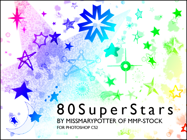 FREE BRUSHES, 80 Super Stars by mmp-stock