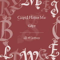Cupid Hates Me caps by rL-Brushes