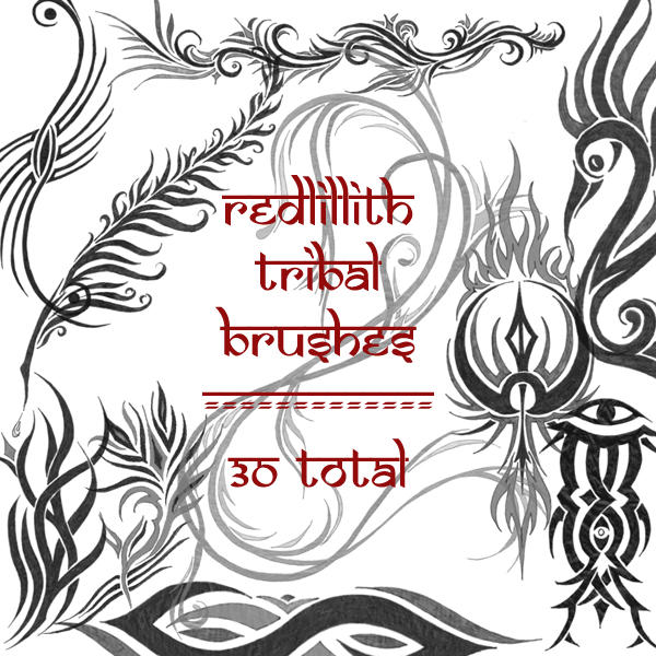 redLillith tribals by rL-Brushes