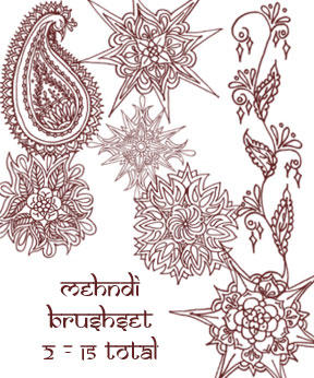 redLillith Mehndi set 2 by rL-Brushes