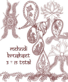 redLillith Mehndi set 3 by rL-Brushes