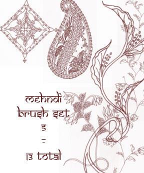 redLillith Mehndi set 5 by rL-Brushes