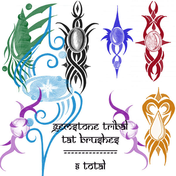 gemstone tribal brushes by rL-Brushes